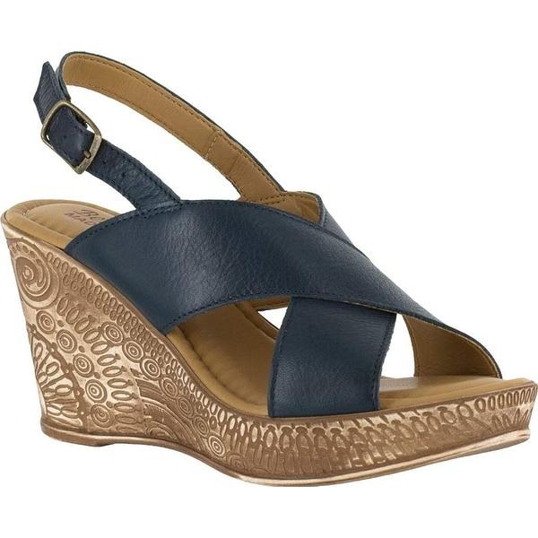 Bella Vita Womens Lea-Italy Leather Open Toe Casual Platform Sandals