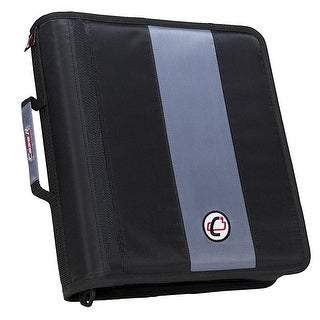 Case-It Classic O-Ring Zipper Binder, Black, 2 Inches