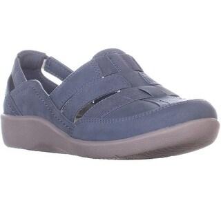 Clarks Sillian Stork Fisherman Sandals, Blue Grey - 7 w us