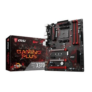 Msi X370 Gaming Plus Am4 Amd X370 Atx Desktop Motherboards With 3Pciex16