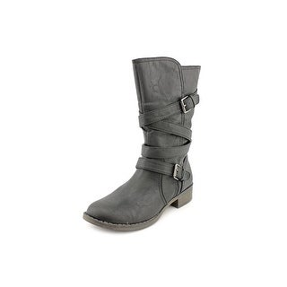 Report Jesslyn Round Toe Synthetic Mid Calf Boot