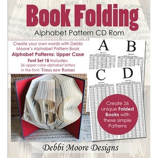 Debbi Moore Cd Rom Book Folding Patterns-Times New Roman Alpha 1B, Upper