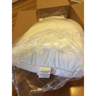 Grandeur Collection Cotton Down Alternative Density Pillow (Set of 2) - White