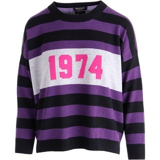 Juicy Couture Black Label Womens Cashmere Colorblock Pullover Sweater