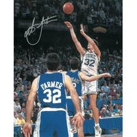 Christian Laettner signed Duke Blue Devils Vertical 16x20 Photo 1992 The Shot vs Kentucky Buzzer Be