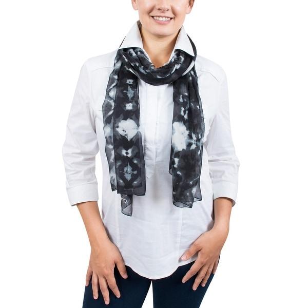 Ungaro UN7018 S7789 Tie Dye Print Smoke Silk Scarf - 71-27