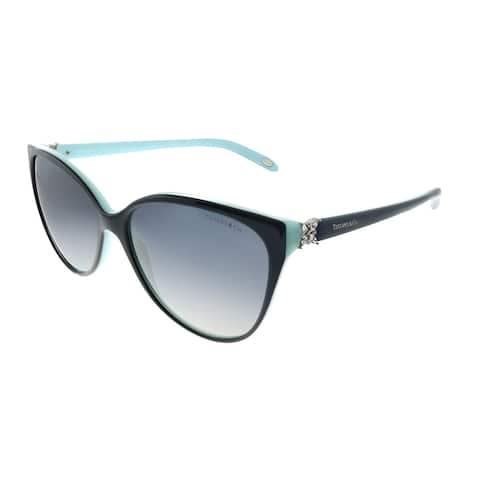 Tiffany & Co. TF 4089B 8055T3 Womens Black on Blue Frame Grey Polarized Lens Sunglasses