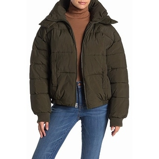 Link to Lucky Brand Womens Puffer Jacket Green Size Small S Hooded Full-Zip Similar Items in Women's Outerwear