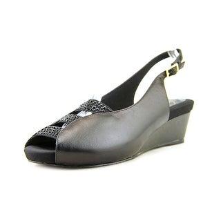 J. Renee Hannel Women N/S Open-Toe Leather Slingback Sandal