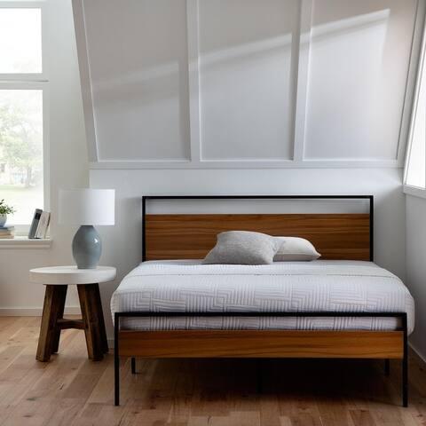 Brookside Nora Metal and Wood Platform Bed