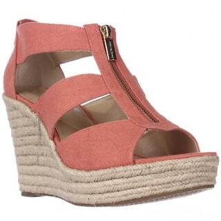 MICHAEL Michael Kors Damita Wedge Espadrille Sandals, Pink Grapefruit