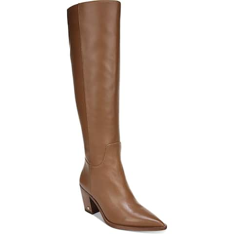Sam Edelman Womens Lindsey Knee-High Boots Leather Fashion