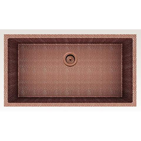 American Imaginations 33-in. W CSA Approved Rose Copper Kitchen Sink With Copper Finish And 16 Gauge - 18