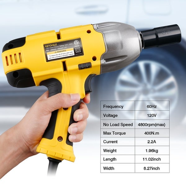SPEEDWAY 110 Volt 1//2 inch Electric Impact Wrench 240 ft lbs Torque Power Tool