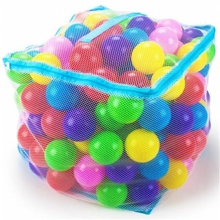 200 Jumbo 3 Multi-Colored Soft Ball Pit Balls w/Mesh