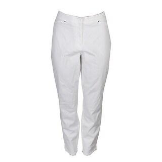 Alfani White Comfort Waist Skinny Jeans - 8