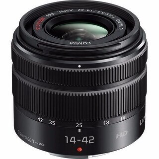 Panasonic Lumix G Vario 14-42mm f/3.5-5.6 II ASPH. MEGA O.I.S. Lens International Model - Black