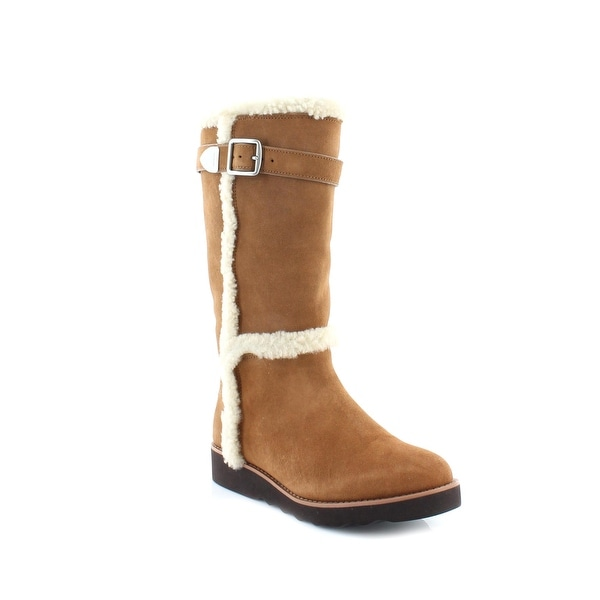 Coach Belmont Cold-Weather Boot Women's Boots Saddle - 8.5