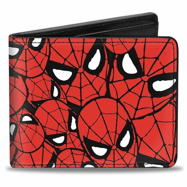 Marvel Comics Spider Man Face Stacked Bi Fold Wallet - One Size Fits most
