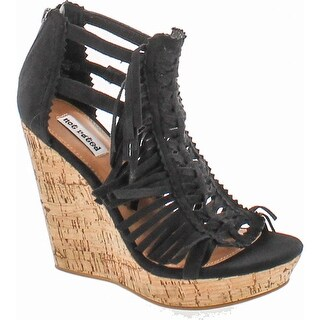 Not Rated Women's Honey Buns Wedge Sandal - Black
