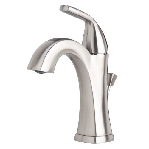 Miseno ML611 Elysa-V Single Hole Bathroom Faucet - Includes Lifetime Warranty and Pop-Up Drain Assembly