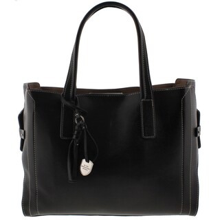 London Fog Womens Tote Handbag Faux Leather Contrast Stitch - Large (3 options available)