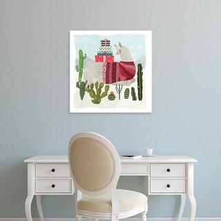Easy Art Prints Victoria Borges's 'Holiday Llama III' Premium Canvas Art
