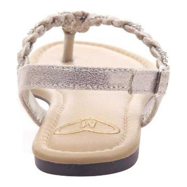 b75a5fa0 Shop Madeline Women's Charge Braided Thong Sandal Antique Gold ...