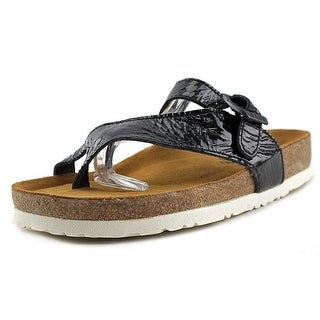 Naot Tahoe Women Open Toe Patent Leather Black Thong Sandal