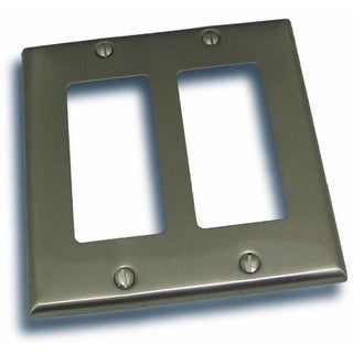 """Residential Essentials 10824 4.5"""" X 4.5"""" Double Rocker Switch Plate Featuring a Rustic / Country Theme"""