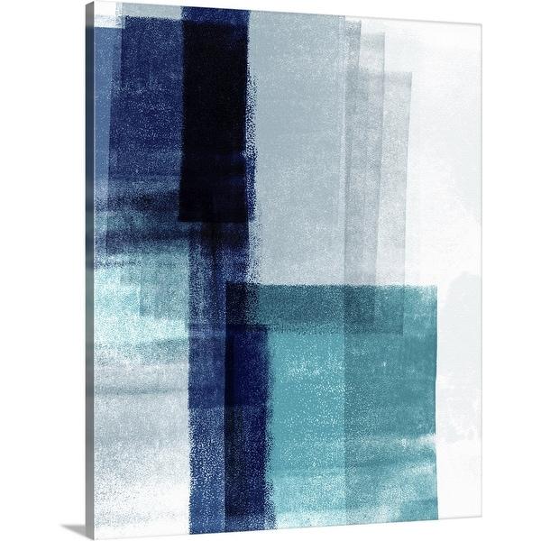 """Blue Abstract V"" Canvas Wall Art"