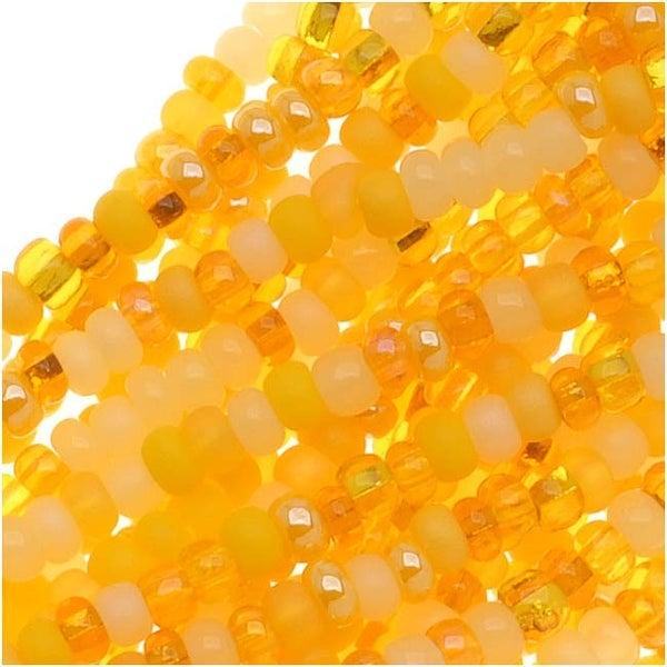 Czech Seed Beads 11/0 Mix Lot Daffodil Yellow Lemon