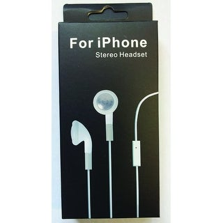 Stereo Earphones with Mic Black
