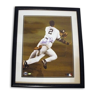 Derek Jeter New York Yankees Autographed Framed 16x20 This item comes with a COA from Steiner