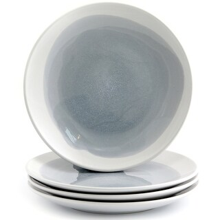 "American Atelier 7.75"" Oasis Blue Grey Ceramic Salad Plates Set of 4"