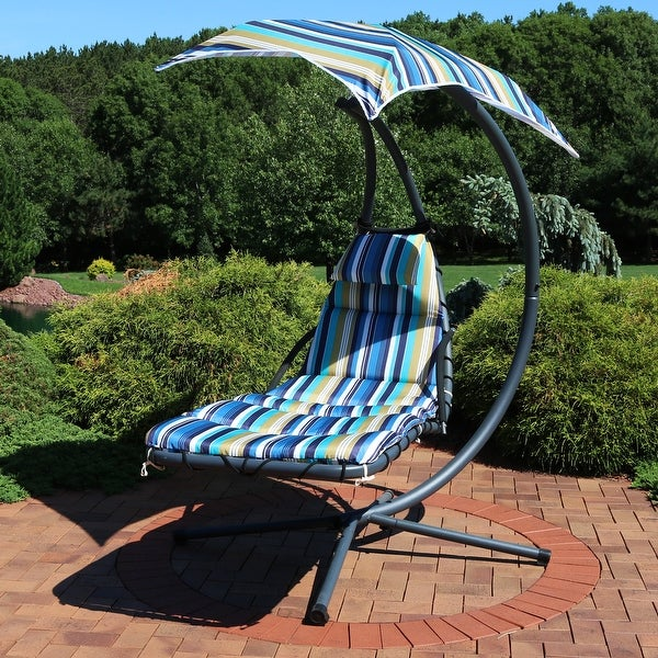 Shop Sunnydaze Lakeview Floating Chaise Lounger Swing