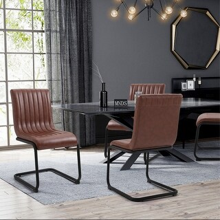 Link to FurnitureR Camel Faux Leather Armless Office Visitor Chair Set of 2 Similar Items in Office & Conference Room Chairs