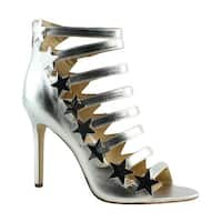 Katy Perry Womens Kp0001 Silver Sandals Size 8.5