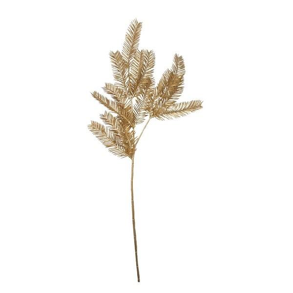 "26"" Gold Glitter Pine Artificial Christmas Spray - N/A"