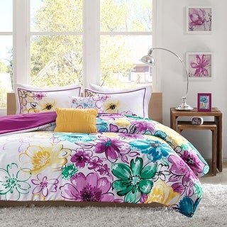 Link to Ashley Floral Microfiber Comforter Set by Intelligent Design Similar Items in Bed-in-a-Bag