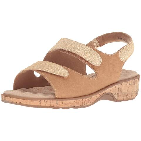 SoftWalk Womens Bolivia Leather Open Toe Casual Slingback Sandals