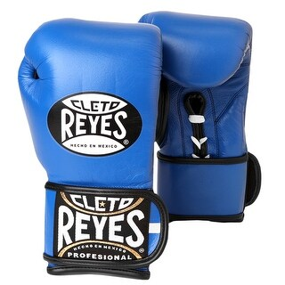 Cleto Reyes Lace Up Hook and Loop Hybrid Boxing Gloves - Blue