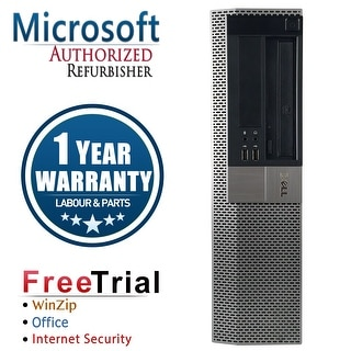 Refurbished Dell OptiPlex 960 Desktop Intel Core 2 Duo E8400 3.0G 4G DDR2 320G DVDRW Win 10 Pro 1 Year Warranty - Black