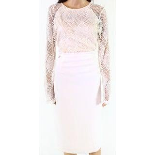 Missguided White Ivory Womens Size 16 Lace Cutout-Sides Sheath Dress