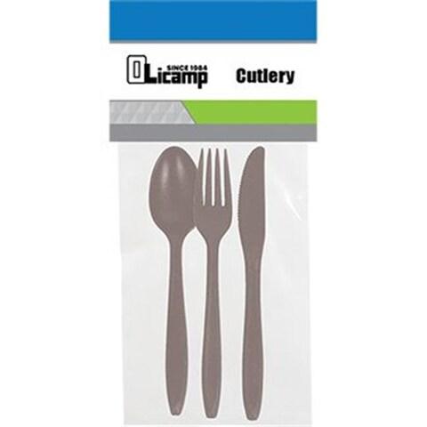 Olicamp 343230 Olicamp Cutlery, 3 Piece - Smoke
