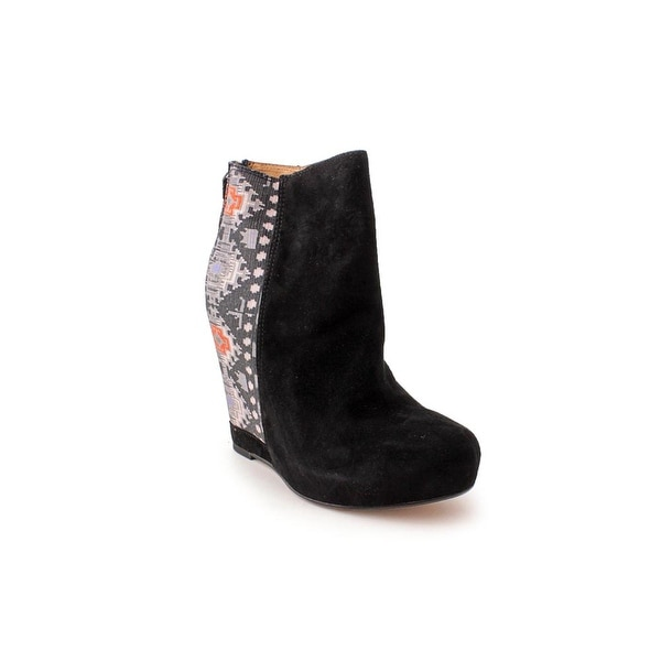 Ella Moss Janelle Women Round Toe Suede Ankle Boot