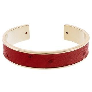 Stamerra MEMAN STRUZZO RO Red Genuine Ostrich Bracelet
