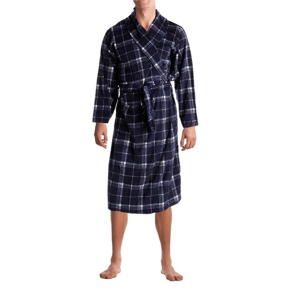 Jockey Mens Long Robe Microfiber Belted - o/s
