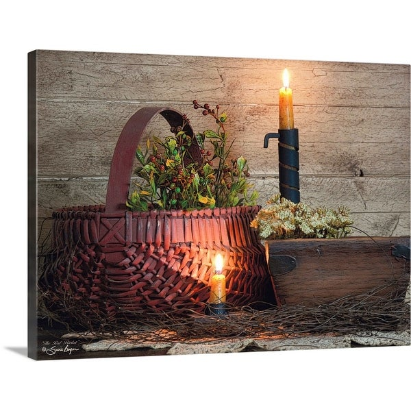 """""""The Red Basket"""" Canvas Wall Art"""