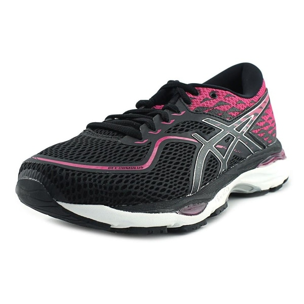 Asics Gel Cumulus 19 Black/Silver/Pink Peacock Running Shoes